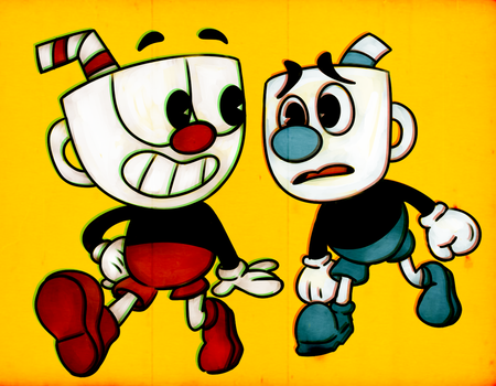 Cuphead And His Pal Mugman by Miss-Lizzifer