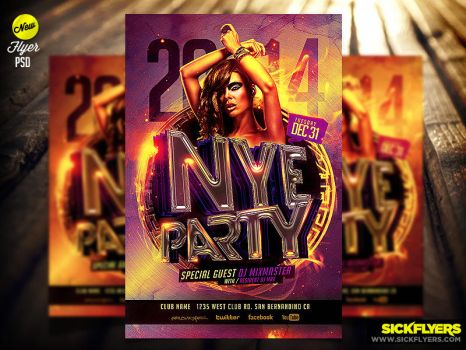 NYE Flyer Template by Industrykidz