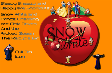 Snow White Clock For Xwidget by DaveBreck