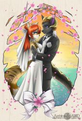Wedding Portait (Ryusei-Lupi auction commission) by A-BlueDeer