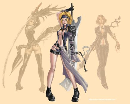 FFX-2 Rikku Soldier 1st Class by mr-mister