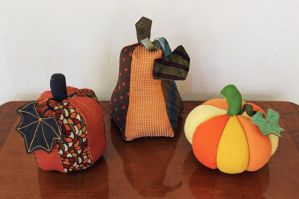 Broadcloth, Necktie, and T-Shirt Pumpkins! by Madelei