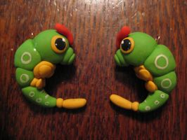 Caterpie Earrings