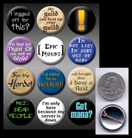 WoW pinback buttons by eitanya