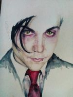 Frank Iero in progress by st-psycho