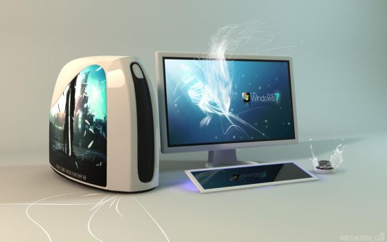 concept computer windows 7 by 3DEricDesign