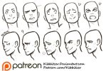Facial Expressions reference sheet by Kibbitzer