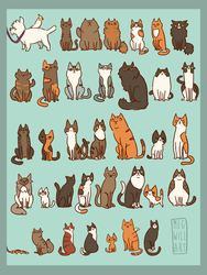 Lots of Cats by Bearful