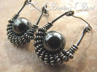 Iron Maiden Earrings by smilingsoul