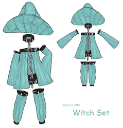 MMD- Belt Witch Set -DL by MMDFakewings18