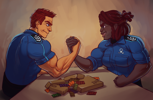 High Steaks Arm Wrestling by MisterCrowbar