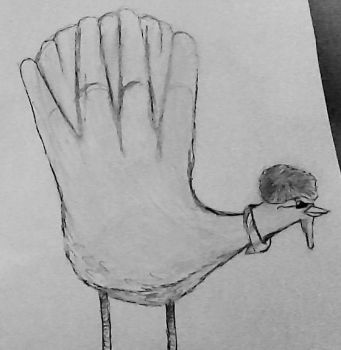 Hand Turkey.........70's style by Sp33dy-thedrawer