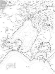 Melbourne fantasy map by Mapsburgh