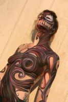 Symbiote body paint by ZacConley