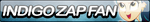 Indigo Zap Fan Button by Agent--Kiwi