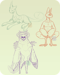 Species Sketches by Anti-Dark-Heart