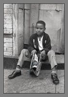 Boy on stoop. image 353, with story by harrietsfriend
