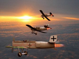 Jets over France, 1918 by the-woz