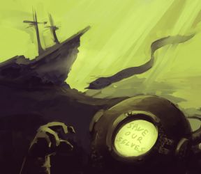 A Hopeless Diver by Tengus-Nose