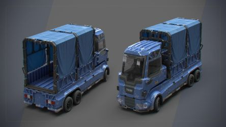 Compact Cargo Truck by iCephei