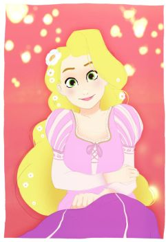 Practice doodle #3 - Rapunzel by MonsieurWilliam