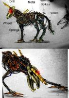The Horned Beast - 9 Creature by Lily-pily