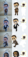 Person of Interest keychains by Momiji95