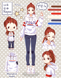 OC-Nayoo | Reference Sheet by Hyoko-Cchi