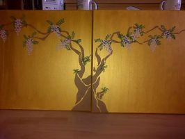 Weisteria Painting by Tallonis