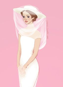 a girl with a veil yes by anro22