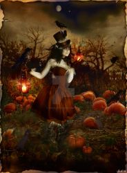 Pumpkin Patch Annie 'cutout' by Toefje-Kunst