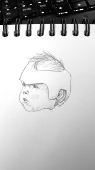 Baby with helmet by kinow