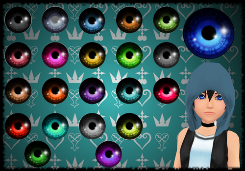 KH 'Borderland' Eye Textures DOWNLOAD by Reseliee