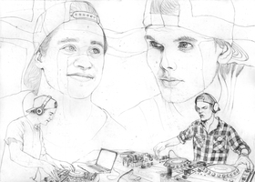 Avicii and Kygo SKETCH by Yankeestyle94
