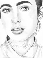 Lily Collins - Snow White by JLafleurArt