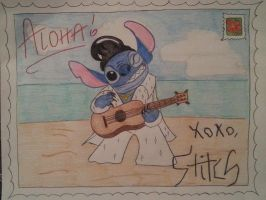 Postcard from Stitch! by Gr0banit3