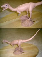 Compsognathus sculpture by bronze-dragonrider