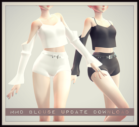[MMD] Blouse And Shorts DOWNLOAD! + UPDATED 1.1 by AyaneFoxey