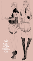 keep calm and carry on by hakuku