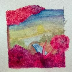 Nature Watercolor WIP by Ssu-Chan