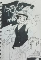 365 day drawing challenge day 15 Luffy by TomatoStyles