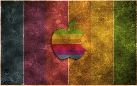 Retro Grungy Apple Wallpaper by colaja