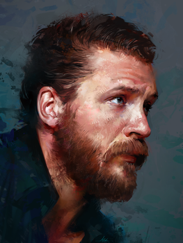 Tom Hardy by AaronGriffinArt