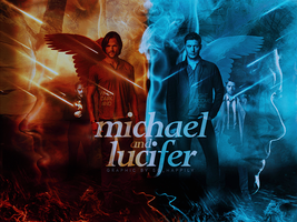 Blend 04 - Michael and Lucifer by sohappilyart