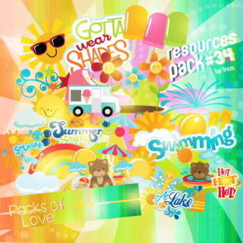 Summer Png Pack (2) by IremAkbas
