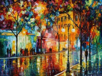 Tears Of The Fall by Leonid Afremov by Leonidafremov