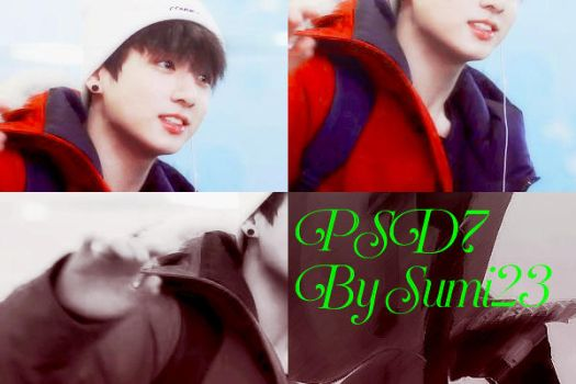 PSD7/ White/ Red lips/ By Sumi23/ BTS's Jungkook by DDH-Sumi23