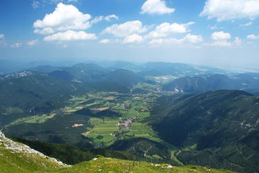 Puchberg Viewed from Schneeberg by AgiVega