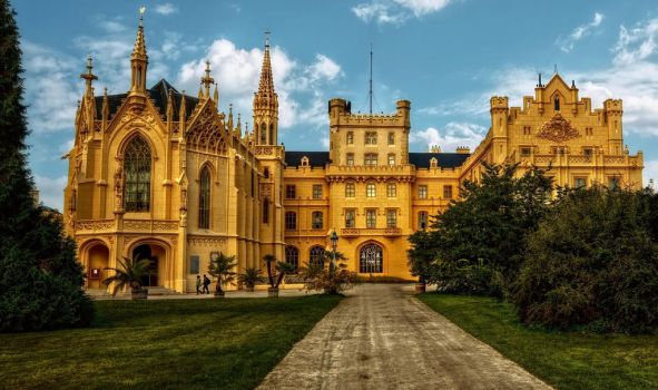 The Castle of Lednice II by pingallery