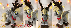 Derpy / Muffin Christmas Deer Plush by My-Little-Plush